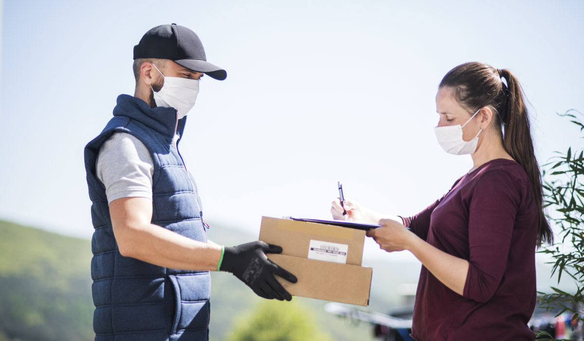 courrier en pandemia