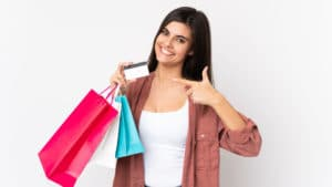 mujer compras online