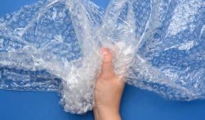 plástico de burbuja para embalar cajas